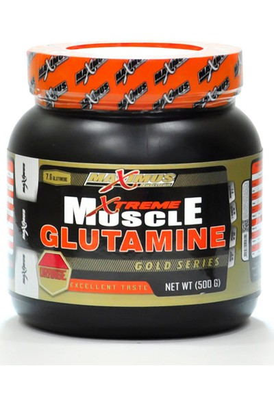 Maximus Nutrition Muscle Glutamine 500 gr Portakal