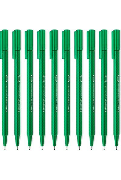 Staedtler Triplus Broadliner 0.8 mm Keçe Kalem Yeşil