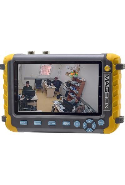 Magbox Ahd+Analog+Tvı Cctv Kamera Test Cihazı (5 Inç Ekran*fenerli)