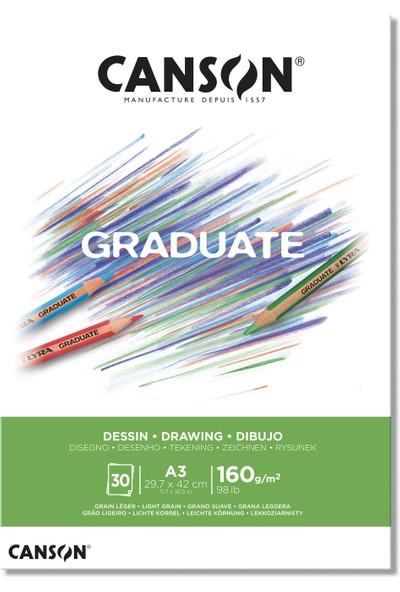 Canson Graduate Drawing Eskiz Çizim Defteri 160 gr A3 30 Sayfa