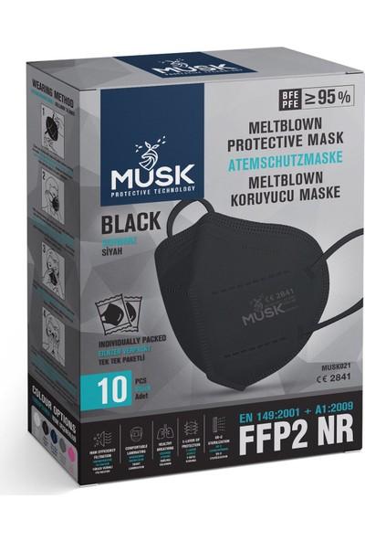 Musk N95 Siyah Maske 20 Adet