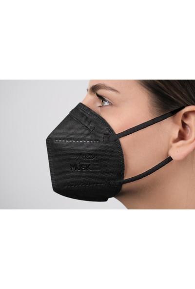 Musk N95 Siyah Maske 30 Adet