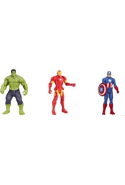 Tgb Süper Kahramanlar Serisi 3'lü Hulk + Captain America + Iron Man