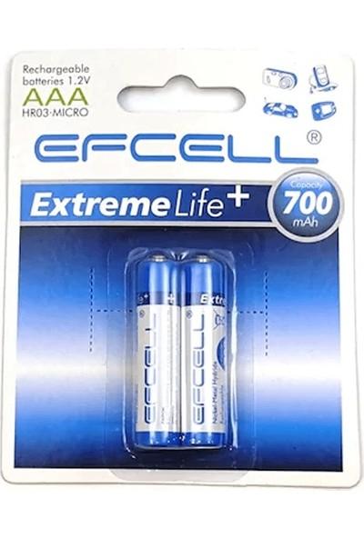 Efcell Pil 700 Mah Şarj Edilebilir Aaa 1.2V Nı-Mh 1'li Ince Kalem Pil Efcell HR03-MICRO