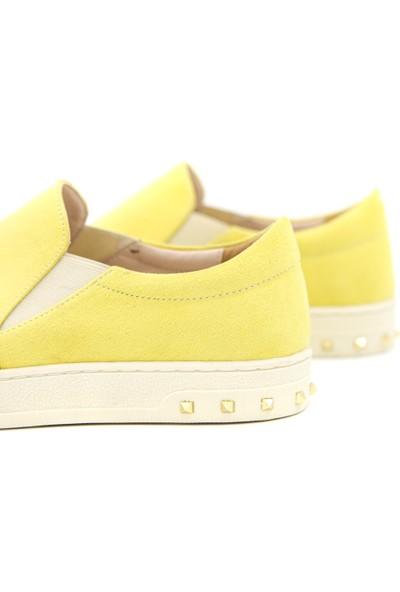 Yoyo Kadın Sarı Sneaker