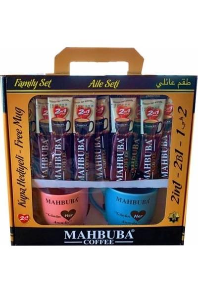 Mahbuba 2'si 1 Arada Aile Seti 20 gr 40 Adet Kahve