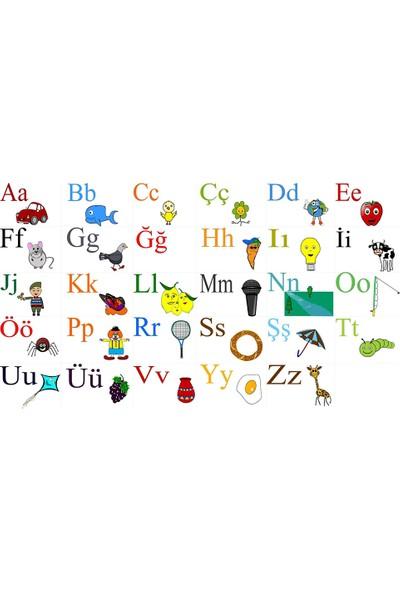 Vera Buzdolabı Poster Alfabeyi Öğreniyorum Magneti (A3 Boyutunda 30CM*42CM)