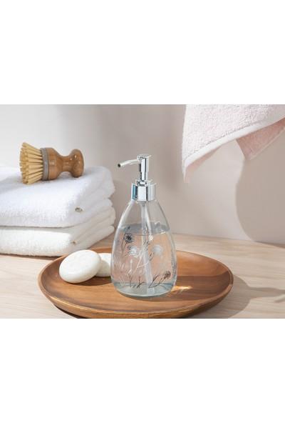 English Home Dandelion Cam Banyo Sıvı Sabunluk 7X7X18 cm Silver