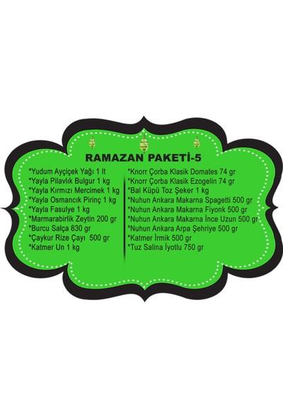 Ramazan Erzak Yardım Paketi Kolisi 18 Parça No:5