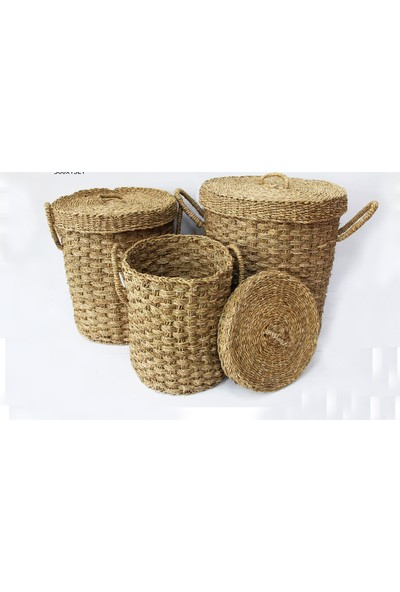 Sever Home Matia Seagrass Çamaşır Sepeti Küçük Boy 42 cm