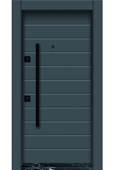 Mono Çelik Kapı MN-1835 Pvc Panel Tekstüre Antrasit Çelik K...