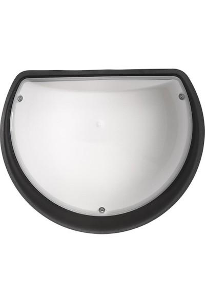 Horoz Aqua Yarımay Aplik LED + Sensörlü Siyah KASA-9W 3000K Gün Işığı Opal 360 Derece Microsensor-An