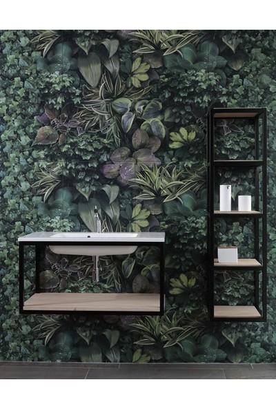 Abronya Banyo Dolabı Raflı Banyo Dolabı Metal Banyo Dolapları Banyo Lavabo Altı Dolabı 2li Set
