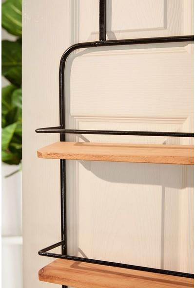 Abronya Banyo Askısı Kapı Arkası Askılık Metal Askılık Raflı Askılık
