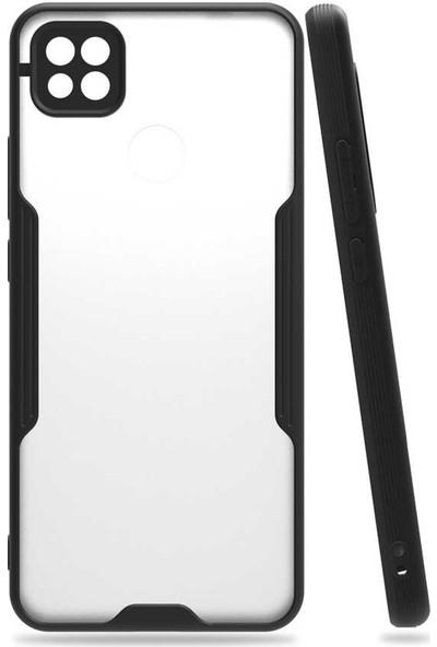 Nezih Case Xiaomi Redmi 9c Uyumlu Kamera Korumalı Kenarları Renkli Arkası Mat Silikon Kılıf Siyah
