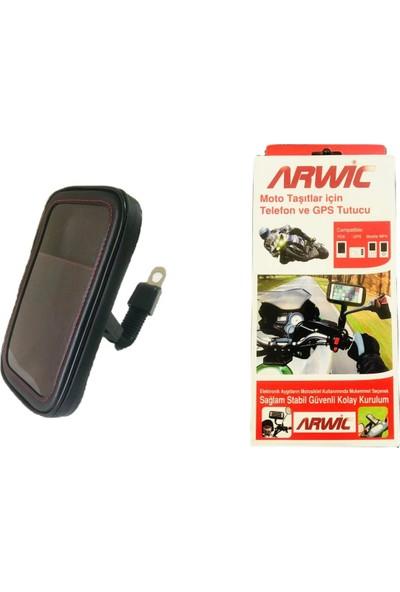Arwic Ayna Bağlantılı Motosiklet Telefon Tutucu