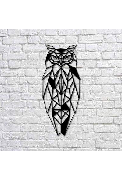 Bafidica Metal Tablo - Geometrik Baykuş - Duvar Dekoru - Ev Dekorasyon