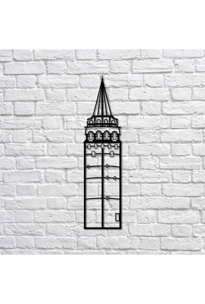 Bafidica Metal Tablo - Galata Kulesi - Duvar Dekoru - Ev Dekorasyon