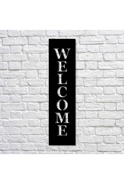 Bafidica Metal Tablo - Welcome Hoşgeldin Ev Girişi Duvar Tablesı