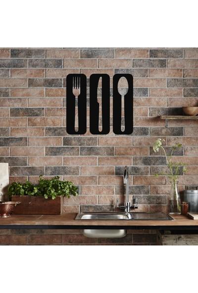 Bafidica Metal Tablo - Çatal Bıçak Kaşık Mutfak Dekorlar - Duvar Dekoru