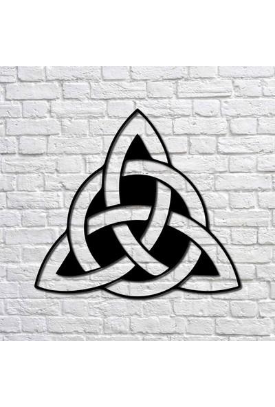 Bafidica Metal Tablo - Viking Sembolü Trinity Knot I - Duvar Dekoru