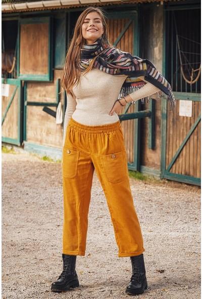 Los Banditos Cep Detaylı Lastikli Kadın Kışlık Pantolon