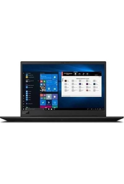 """Lenovo Think P1 Gen3 Intel Core i9 10885H 16GB 1TB + 1TB SSD T2000 Windows 10 Pro 15.6"""" UHD Taşınabilir Bilgisayar 20TH0016TXZ12"""