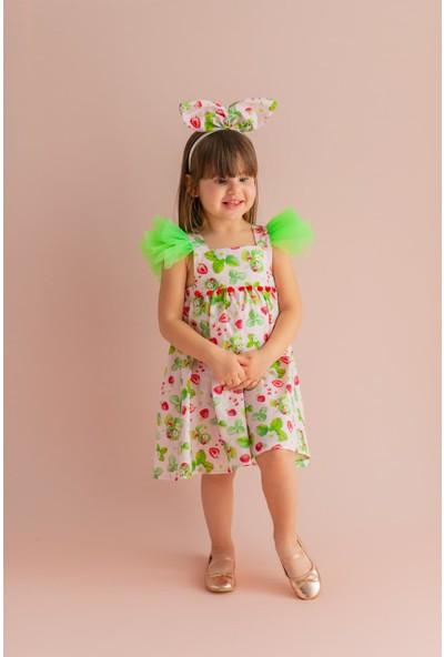 Pixy Love Pudra Kız Çocuk Elbise Lilly Strawberry