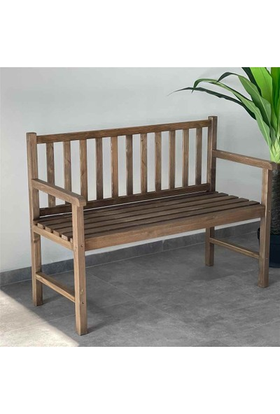 Weblonya Ahşap Bank Bahçe Bankı Kolçaklı Sandalye 2128