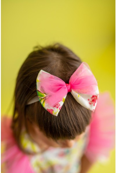 Pixy Love Ekru Kız Çocuk Bandana Fiyonk Spring