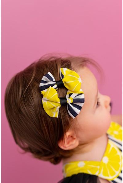 Pixy Love Beyaz Kız Çocuk 2'li Klips Fiyonk Lemonade