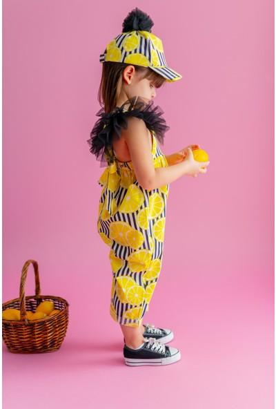 Pixy Love Beyaz Kız Çocuk Tulum Carla Lemonade