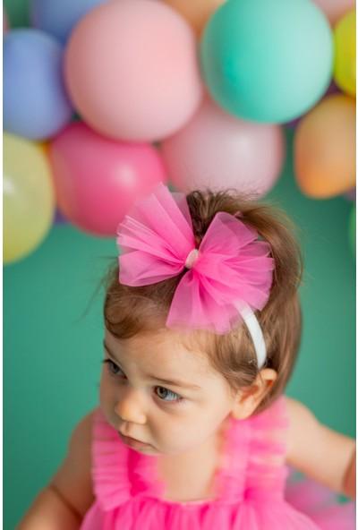 Pixy Love Fuşya Kız Bebek Bandana Fiyonk Bonbon