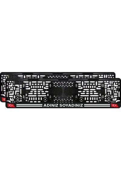 Tual Türk Bayraklı Isimli Takmatik Pleksi Plakalık(2 Adet)