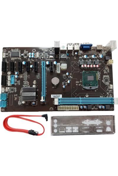 Esonic HM76-65-BTC Combo (I3 Işlemcili & 8 Adet Pcı/e Slotlu) Pcı-E Atx Anakart