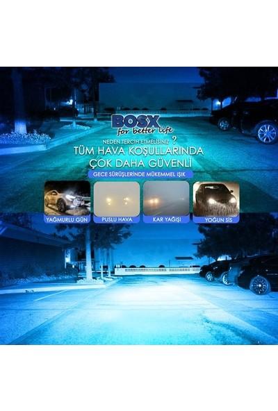 Tekstore Yeni Seri C6 Tip Buz Mavisi H4 LED Xenon, Far Ampülü 4400LM, 10000K Zenon Seti