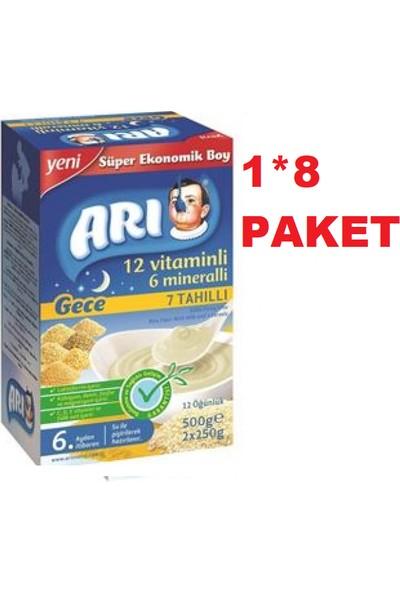 Arı Mama 7 Tahıllı Gece Pirinç Unu 500 gr 1*8 Paket