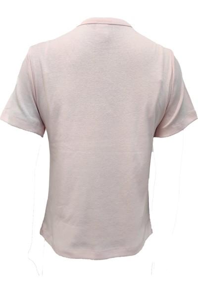 Kadın Önü Baskılı Yuvarlak Yaka Kısa Kollu Pamuklu Oversize T-Shirt