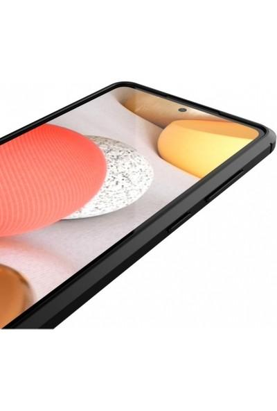 Kılıfplus Samsung Galaxy A72 Kılıf Deri Görünümlü Parmak Izi Bırakmaz Niss Silikon - Kırmızı