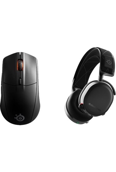 Steelseries Oyuncu Seti(Arctis 7 Siyah (2019 Edition) Wireless Oyuncu Kulaklık+Rival 3 Wireless ve Bluetooth Kablosuz Gaming Oyuncu Mouse)