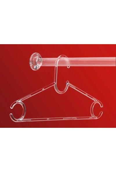 Metali Şeffaf Dolap Içi Moduler Elbise Askısı 120 cm