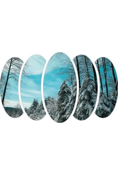 Renkselart Kar Kış Ağaçlık Mdf TABLO-0668
