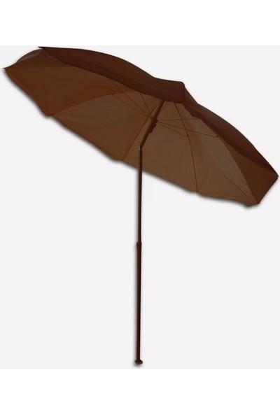 Sunfun Şemsiye - 180 cm - Kahverengi - Ürün Güneşten Korunma Için Uygundur