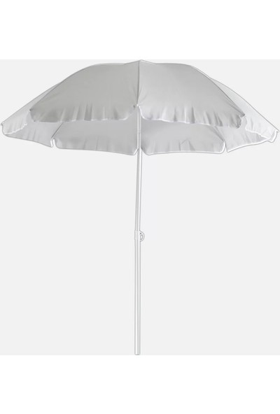 Sunfun Şemsiye - Çap 200 cm - Açık Gri - Ürün Güneşten Korunma Için Uygundur