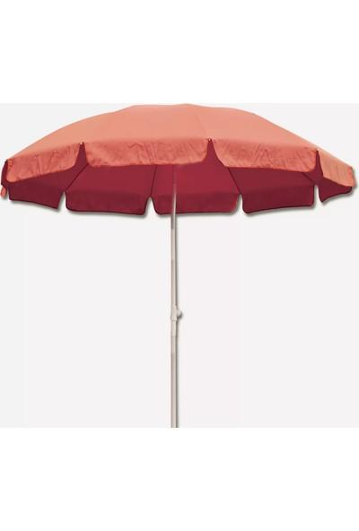 Sunfun Şemsiye - Çap 200 cm - Kırmızı - Ürün Güneşten Korunma Için Uygundur