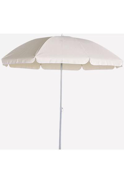 Sunfun Şemsiye - Çap 200 cm - Naturel - Ürün Güneşten Korunma Için Uygundur