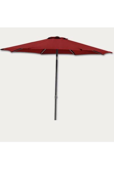 Sunfun Torino Şemsiye - Çap 270 cm - Kırmızı - Ürün Güneşten Korunma Için Uygundur