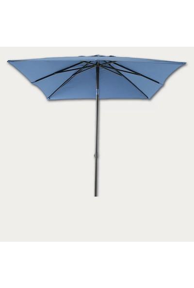 Sunfun Livorno Şemsiye - 200X250 cm - Mavi - Ürün Güneşten Korunma Için Uygundur