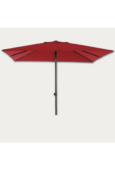 Sunfun Livorno Şemsiye - 200X250 cm - Kırmızı - Ürün Güneşten Korunma Için Uygundur