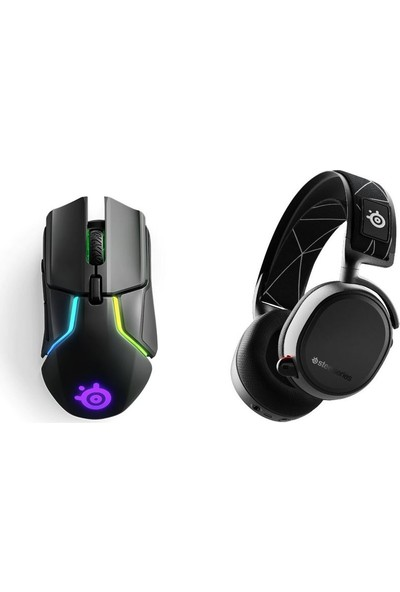 Steelseries Oyuncu Seti(Arctis 9 Wireless ve Bluetooth 7.1 Kablosuz Oyun Kulaklık+Rival 650 Wireless Gaming Mouse)